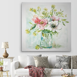 Wexford Home 'Asbury Garden Belle Bouquet II' Premium Gallery-wrapped Canvas (4 Sizes Available)