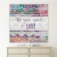Wexford Home 'Boho Love' Premium Gallery Wrapped Canvas with 4 Sizes Available