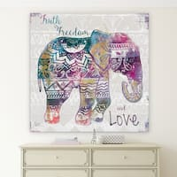 'Boho Elephant' Premium Gallery Wrapped Canvas (4 Sizes Available)