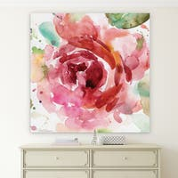'Bold Blush III' Canvas Premium Gallery-wrapped Wall Art