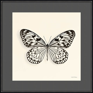 Framed Art Print 'Butterfly V BW Crop' by Debra Van Swearingen