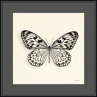 Framed Art Print 'Butterfly V BW Crop' by Debra Van Swearingen 16 x 16-inch