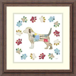 Framed Art Print 'Good Dog IV Sq with Border' by Courtney Prahl 19 x 19-inch