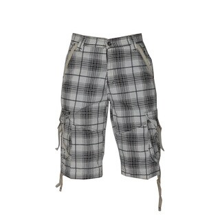 Dinamit Men's Plaid Cotton Cargo Shorts