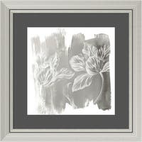 Framed Art Print 'Water Wash II Neutral (Floral)' by Sue Schlabach 24 x 24-inch