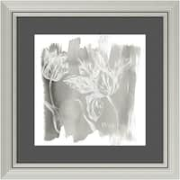 Framed Art Print 'Water Wash I Neutral (Floral)' by Sue Schlabach 24 x 24-inch