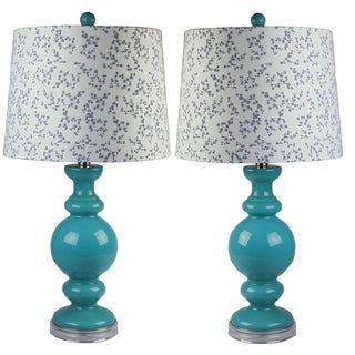 Kalin Teal Table Lamp set of 2 - 27 inches H