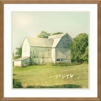 Framed Art Print 'Farm Morning III Square (Barn)' by Sue Schlabach 21 x 21-inch