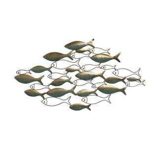 Stratton Home Decor Patina Fish Wall Decor