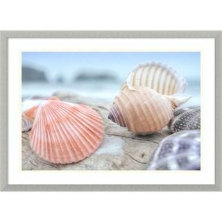 Framed Art Print 'Rodeo Beach Shells 10' by Alan Blaustein 29 x 21-inch