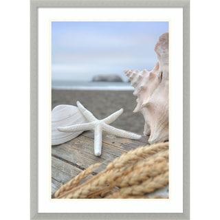 Framed Art Print 'Rodeo Beach Shells 12' by Alan Blaustein 21 x 29-inch