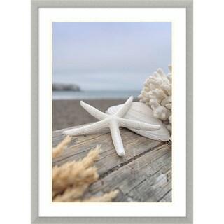 Framed Art Print 'Rodeo Beach Shells 13' by Alan Blaustein 21 x 29-inch
