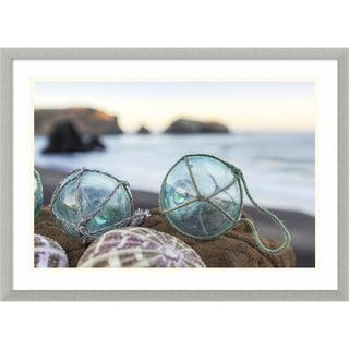 Framed Art Print 'Rodeo Beach Shells 16' by Alan Blaustein 29 x 21-inch