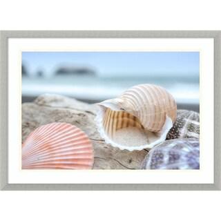 Framed Art Print 'Rodeo Beach Shells 9' by Alan Blaustein 29 x 21-inch