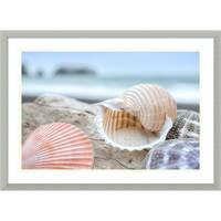 Framed Art Print 'Rodeo Beach Shells 9' by Alan Blaustein 30 x 22-inch