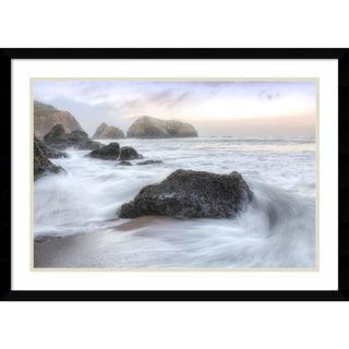 Framed Art Print 'Rodeo Beach Waves 2' by Alan Blaustein 29 x 21-inch