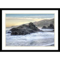 Framed Art Print 'Rodeo Beach Waves 4' by Alan Blaustein 29 x 21-inch