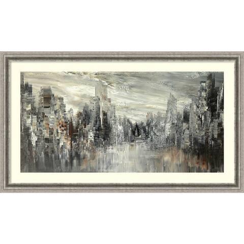 Framed Art Print 'City of the Century' by Tatiana Iliina 43 x 25-inch