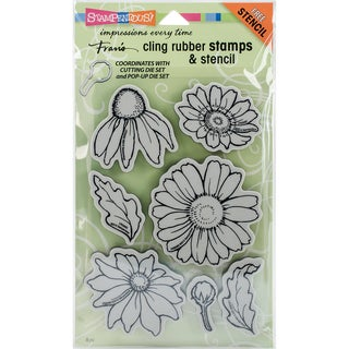 Stampendous Cling Stamps & Stencil 5X7-Daisy Mix
