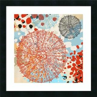 Framed Art Print 'Exotic Sea Life VI' by Irena Orlov 22 x 22-inch