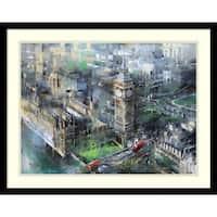 Framed Art Print 'London Green - Big Ben' by Mark Lague 29 x 23-inch