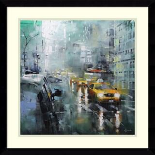 Framed Art Print 'New York Rain' by Mark Lague 21 x 21-inch