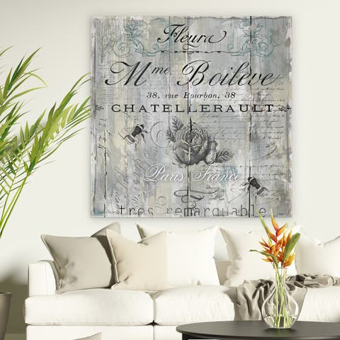 'Signs of Paris II' Premium Gallery-wrapped Canvas Wall Art