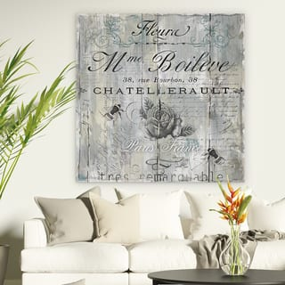 Signs Of Paris Ii Premium Gallery Wred Canvas Wall Art