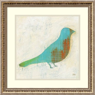 Framed Art Print 'Flight Patterns Bird I' by Melissa Averinos 18 x 18-inch