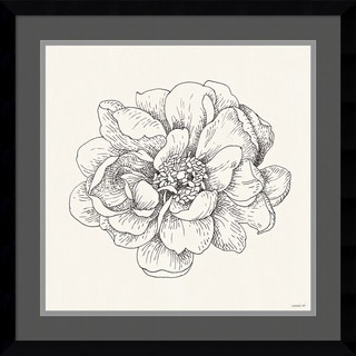 Framed Art Print 'Pen and Ink Florals IV' by Danhui Nai 21 x 21-inch