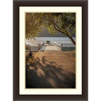 Framed Art Print 'Crescent Lake Pier' by Tim Oldford 24 x 32-inch
