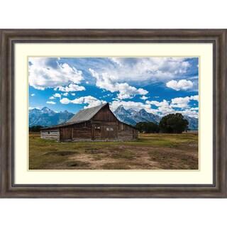 Framed Art Print 'Grand Teton Barn I' by Tim Oldford 48 x 36-inch
