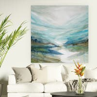 Wexford Home 'Soft River Reflection' Premium Gallery Wrapped Canvas