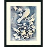 Framed Art Print 'Hedgerow II (Bird)' by Chariklia Zarris 26 x 32-inch