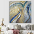'Agate & Gold I' Premium Gallery Wrapped Canvas Art