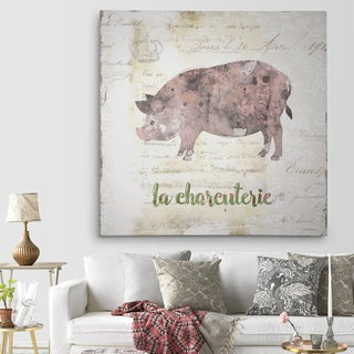 Wexford Home 'Golden Cuisine Pig' Premium Gallery Wrapped Canvas