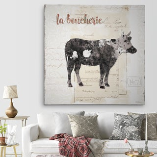 Wexford Home 'Golden Cuisine Cow' Premium Gallery Wrapped Canvas