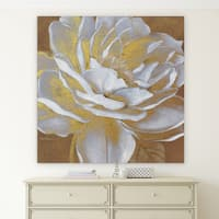 'Golden Bloom I' Canvas Premium Gallery-wrapped Wall Art