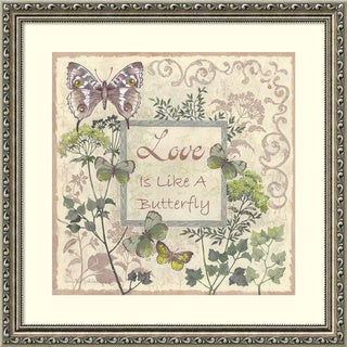 Framed Art Print 'Love and Butterflies' by Anita Phillips 23 x 23-inch