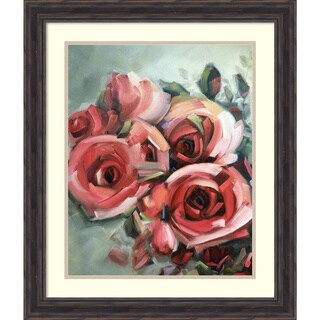 Framed Art Print 'Amid Scent of Roses' by Holly Van Hart 23 x 27-inch