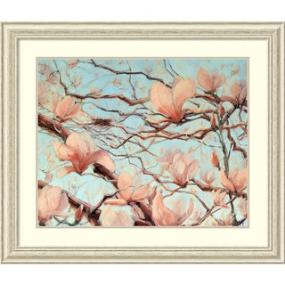 Framed Art Print 'Outside My Window (Floral)' by Holly Van Hart 41 x 35-inch