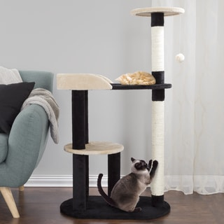 PETMAKER 3-Tier Cat Tree with Two Scratching Posts