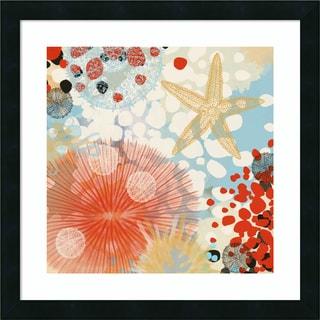 Framed Art Print 'Exotic Sea Life II' by Irena Orlov 22 x 22-inch