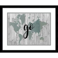 Framed Art Print 'Young Explorer IV (Map)' by Studio W 21 x 17-inch