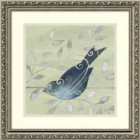 Framed Art Print 'Serene Silhouette II (Bird)' by Grace Popp 19 x 19-inch