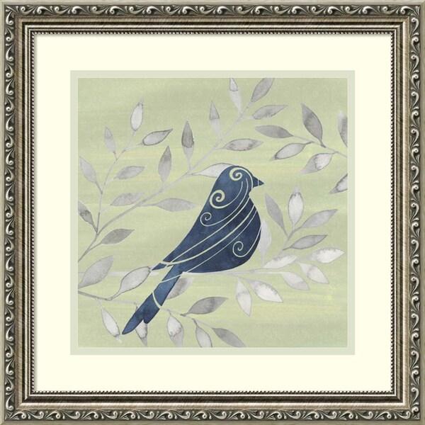 Framed Art Print 'Serene Silhouette IV (Bird)' by Grace Popp 19 x 19-inch