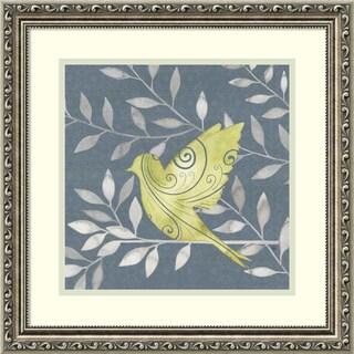 Framed Art Print 'Serene Silhouette I (Bird)' by Grace Popp 19 x 19-inch
