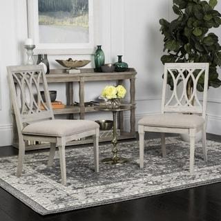 Safavieh Selena Taupe / Rustic Grey Velvet Dining Chair (Set of 2)