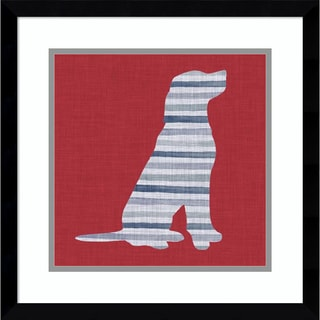 Framed Art Print 'Lakeside Silhouette IV (Dog)' by Grace Popp 17 x 17-inch