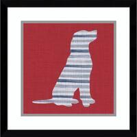 Framed Art Print 'Lakeside Silhouette IV (Dog)' by Grace Popp 17 x 17-inch